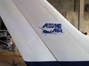 Aviation logo on plane