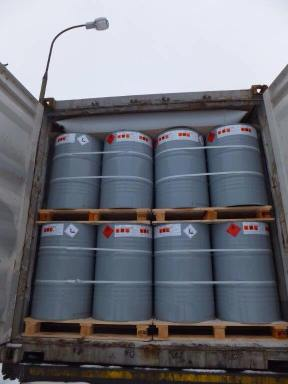 Container shipment of gas