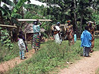 Headed to the ladies meeting in Agotimé