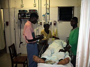 Chaplain visits patients