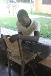 Weaving a chair