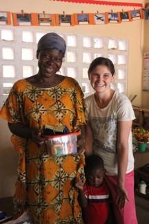 Christy Sopcisak with Kindergarten teacher