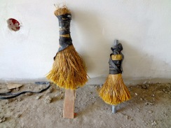 Togolese paintbrushes used to pain the walls in the home