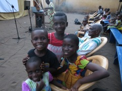 Children at the Dagbuipe neighborhood outreach