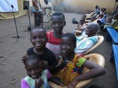 Children at the Dagbuipe neighborhood outreach