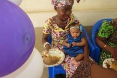 Joseph Akakpo's daughter Rachel and granddaughter